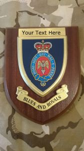 Blues and Royals Personalised Military Wall Plaque